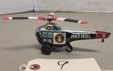 Vintage Tin Litho Highway Patrol #61 Oush Toy