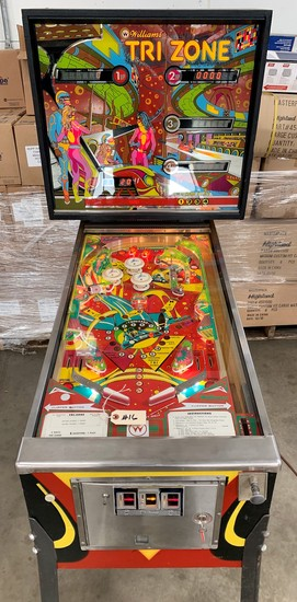 "Williams ""Tri-Zone"" 4 Player Pinball Game"