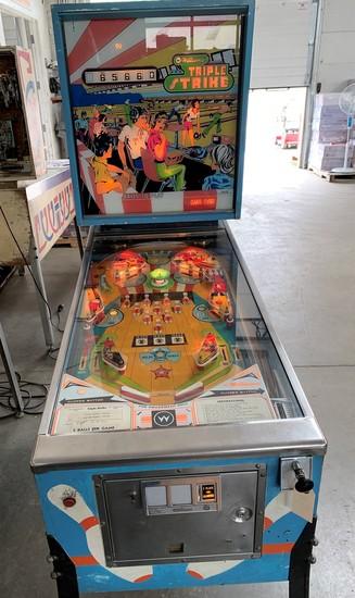 "Williams ""Triple Strike"" Pinball Game"