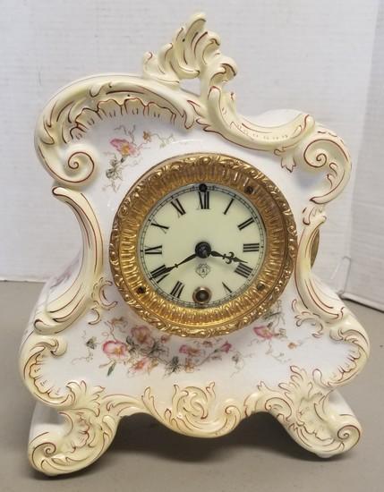 Vintage Porcelein Asonia Clock Co. clock,