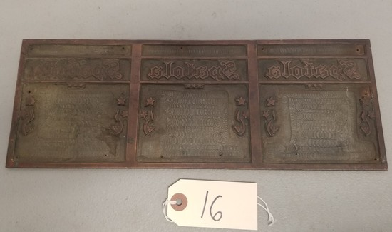 Vintage Brass Spatula Wine Co. plaque,