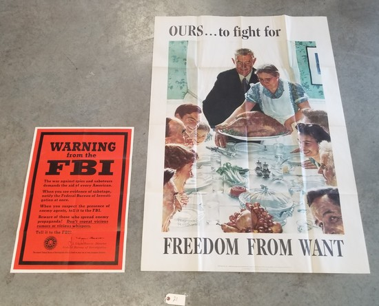 2 Original WWII posters,