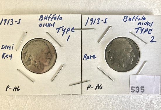 Buffalo Nickels, Key Coins,