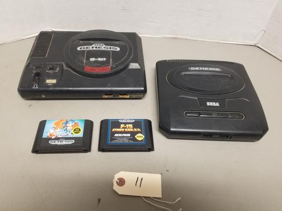 (2) Sega Genesis, (2) Games