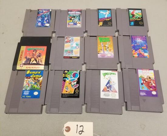 (12) Assorted NES Games