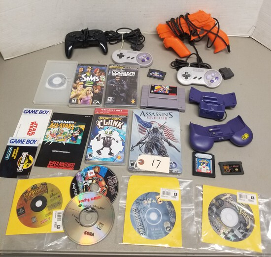Assorted Gaming System Games & Controllers