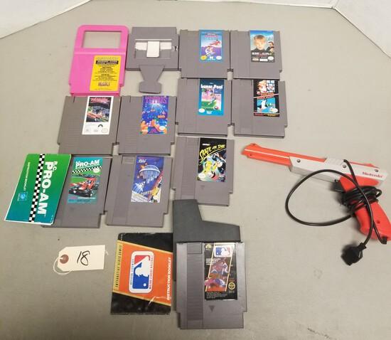 NES Assorted Games & Controller