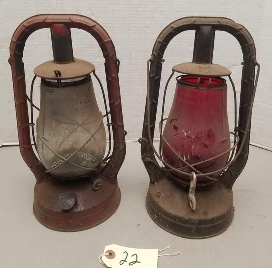 (2) Vintage Dietz Railroad Lanterns