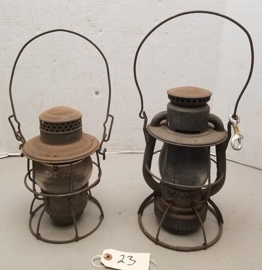 """Adlake"" & ""Boston & Maine"" Vintage Lanterns"