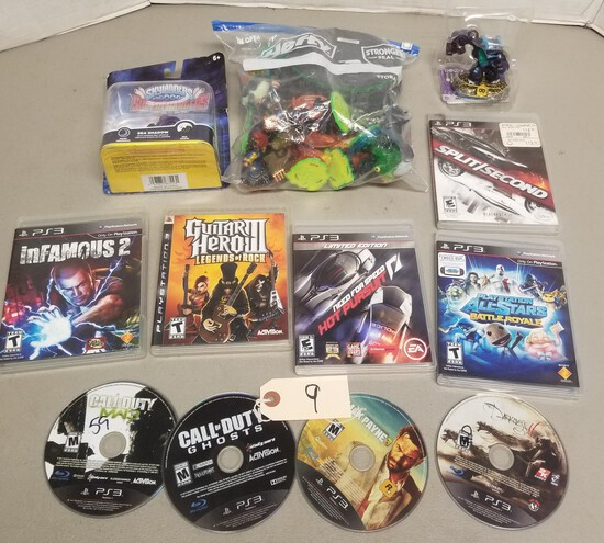 (9) PS3 Games & Assorted Skylander Figures