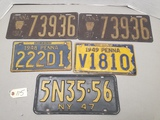 5-Early Pennsylvania License Plates