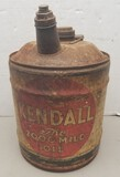 Vintage Kendall 2000 Mile 5-Gallon Oil Can