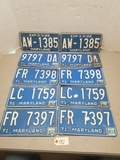 5 - Matching 1970's Maryland License Plate Sets