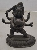 Hindu Brass Statue (Possibly Bhairab)