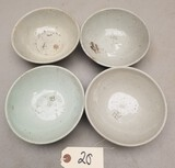 (4) Early Chinese Happiness Rice Bowls