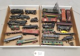 Large Assortment of Heavy Metal Mini Toy Trains