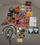 Large Assortment of Boy Scout Patches, Pins & More