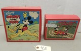 (2) Disney Schylling Toy Mickey Mouse Wind-Ups