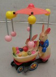 Early Celluloid / Tin Wind-Up Easter Bunny Toy