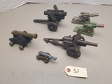 (6) Assorted Vintage Toy Cannons