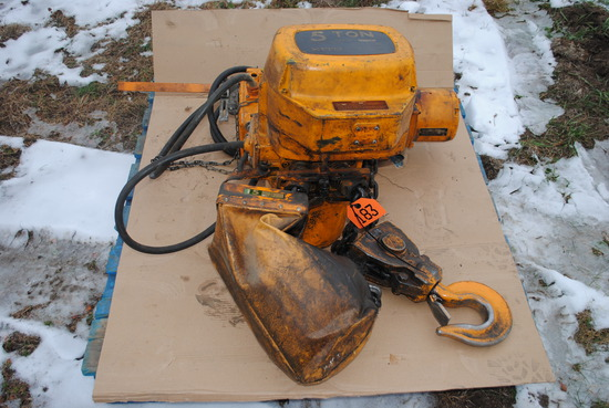 5-Ton electric chain hoist, 3-phase, works