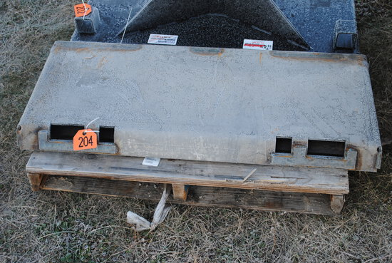 "Jenkins Iron & Steel Quick Attach Plate, 3/16"" gussets under bottom bar, 5/16"" thick plate, 3/16"" to"