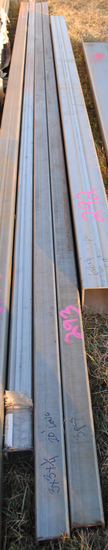 "(3) Stainless steel 3""x3""x1/4"" thick 20' long square tube"