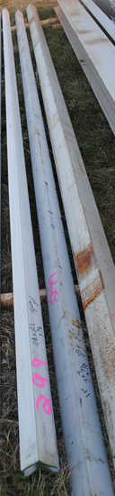 "(1) Stainless steel 3""x3"" x 3/16"" 20' & (5) 2-1/2"" x 2-1/2"" x 3/16"" 20' long angle iron (sell as one"
