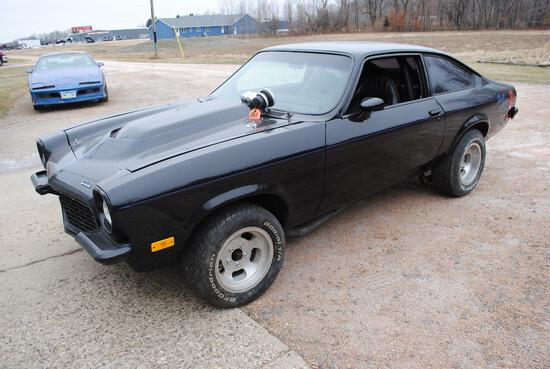 1973 Chevy Vega Hatchback, 400 small block, virtually all stock, turbo 350 automatic, Pontiac rear e
