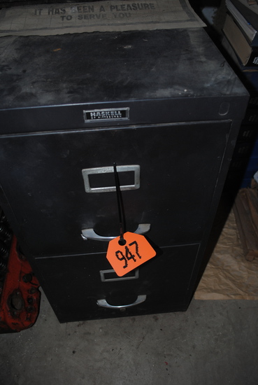 2-Drawer filing cabinet with Toy Farmer Magazines
