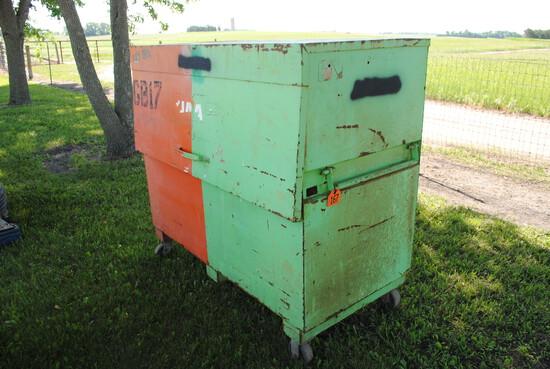 """Knaack Job Box, 5' wide x 56"""" tall x 30"""" deep"""