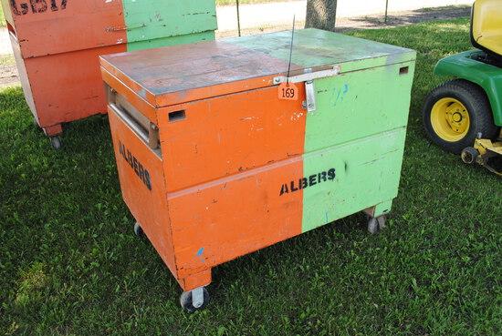 """Knaack Job Box, 4' wide x 40"""" tall x 30"""" deep"""
