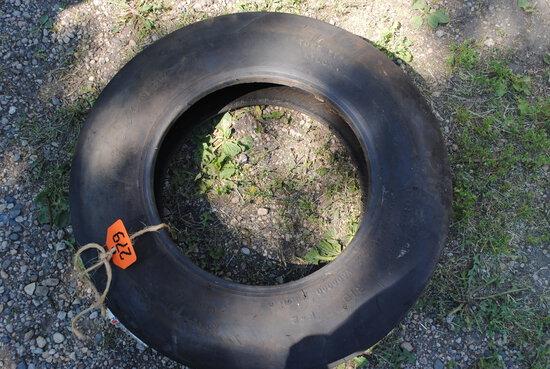 Firestone 6.00-16 3-rib tire, new