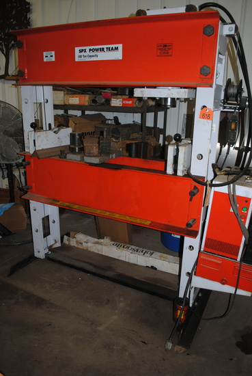 SPX Power Team 100-Ton capacity press, wired for 230 volts