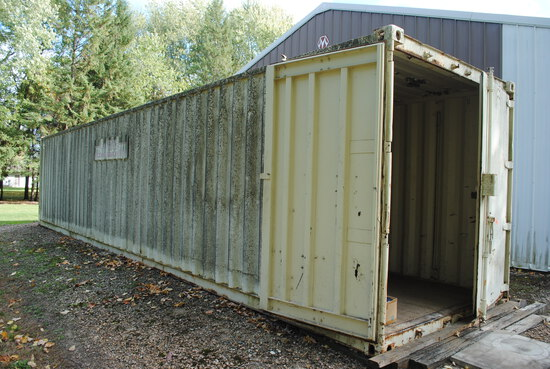 40' Storage Container to be moved by buyer. 14 days to remove it.