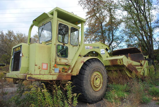 Terex TS-14B 14-yard scraper, new tires in front, ran last year. Will run and operate. Call Troy wit