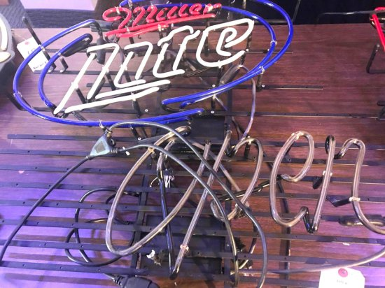 Miller Lite Open Neon Damaged