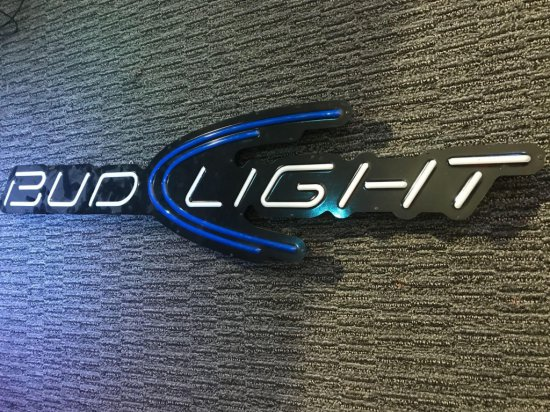 Bud Light Arrow Sign
