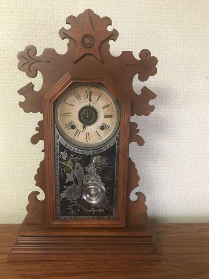Antique winding clock