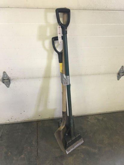 Dirt Shovel, Spade, and Utility Scraper