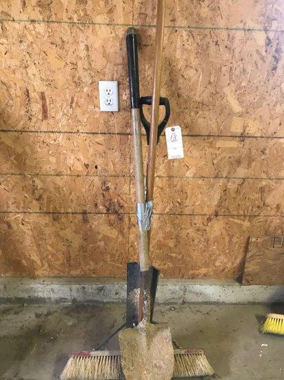 Spade, Sand Shovel, and Push Broom