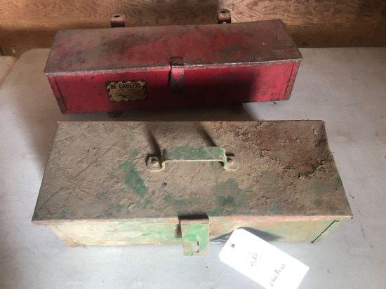 2 metal toolboxes