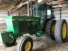 1980 JD 4640 d tractor, SN-14461, 7583 hrs.