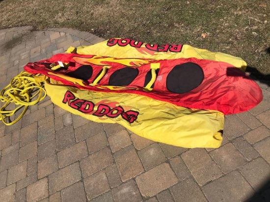 Reddog 3 person inflatable water tube.
