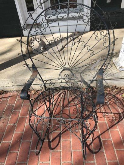 Wire frame patio rocker. No Shipping.