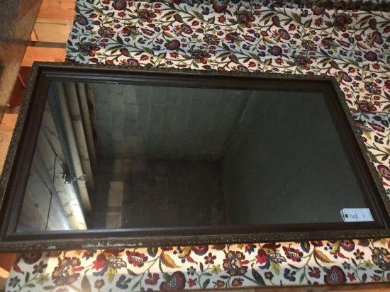 "Framed wall mirror. 26""W x 49.5""H. Nice. No shipping."