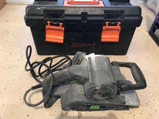 Genesis 3'' x 21'' electric belt sander with case