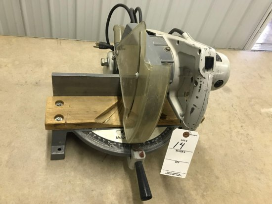 Rockwell model 34-010, 9'' powered miter box, Works well. NO SHIPPING