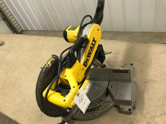 DeWalt model DW706 - 12'' double bevel compound miter saw, Works well. NO SHIPPING