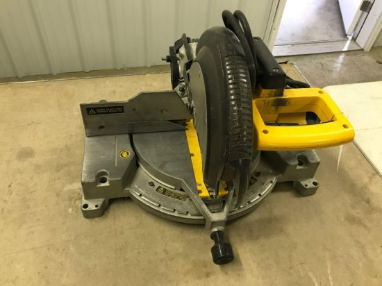 DeWalt Model DW705 - 12'' compound miter saw, Works well. NO SHIPPING